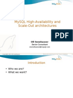 MySQL High-Availability and Scale-Out architectures