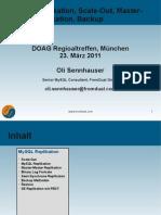 MySQL Replikation, Scale-Out, Master- Master Replikation, Backup