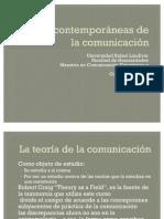 Taxonomía de las teorías de la comunicacion