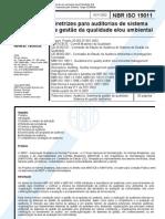 NBR19011_2002_Sistema de Gestão da Qualidade Diretrizes para Auditorias