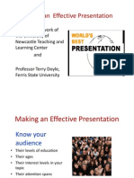 Presentation on Making an Effective Presentation 2012