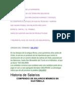 Historia Del Salario