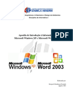 Apostila Windows XP Word 2003