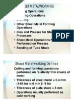 Sheet Metal Operations