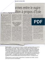 Article Courrier des Yvelines 1er février 2012