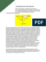 7.-Corte automático por sobre tensión