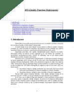 Functia QFD - Quality Function Deployment