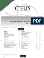 Protein g Antibody Purification Handbook