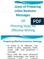 Planning Steps for Effective Writing
