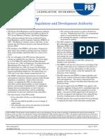 PFRDA Bill Summary, 2011