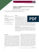 Quorum-Sensing System in Acidithiobacillus Ferrooxidans Involved in Its Resistance to Cu2+