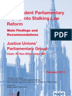 Independent Parliamentary Inquiry into Stalking Law Reform