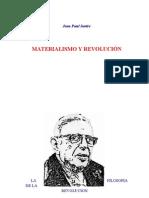 Sartre, Jean Paul Materialismo y Revolucion 20pag