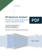 Radio Frequncy Spectrum Analysis via Matlab