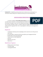 Job Senior Mobile Web Developer & Senior PHP Developer