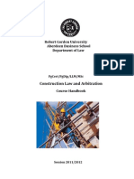LLM Construction Law Arbitration Adjudication Handbook 2011-12 Doc