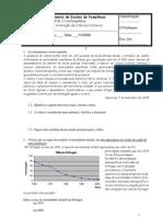 Ficha de avaliação de Ciências Naturais do 9º Ano Outubro 2008