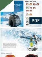 Snow Goggle Catalogue 2012 - 13