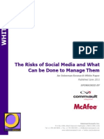 The Risks of Social Media and What Can Be Done to Manage Them