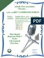Ward 7 Candidates Forum Feb 2012 Flyer - Ver2