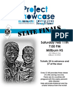 10 - State Finals Project Showcase Flyer