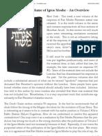 New Volume of Igros Moshe