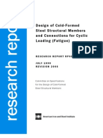 AISI Report RP99-1 - Design of Cold-Formed Steel Structural Members and Connection for Cyclic Loading - Fatigue