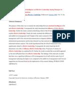 Emotion Intelligwnce Document