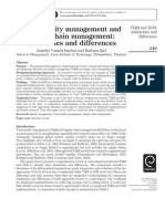 TQM and Supply Chian Management Similalities and Differences