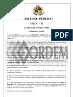 PROVA AUXILIAR DE LABORATÓRIO617 ufba