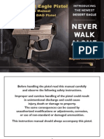 Micro Desert Eagle Pistol Owner's Manual .380 Auto DAO Pistol