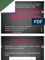 Concentração micelar critica