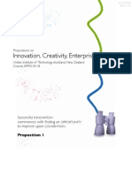 Propositions on Innovation, Creativity, Enterprise and Design