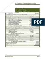 Indirect Method of Cash Flows Statement Directions