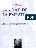Frans De Waal, La Edad de La Empatia. Cap. 1