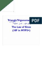 Triangle Trig - Sine Rule