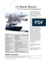General Dynamics- GAU-19/A Naval Mount 12.7mm externally mounted gatling gun
