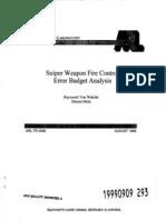 Raymond Von Wahlde and Dennis Metz- Sniper Weapon Fire Control Error Budget Analysis