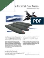 General Dynamics- Composite External Fuel Tanks extend mission range