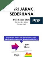 LARI JARAK SEDERHANA