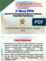 Sosialisasi SPT Masa PPN 1111 DM OK