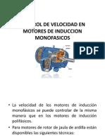 Control de Velocidad en Motores de Induccion Monofasicos