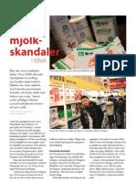 """""""Nya mjölkskandaler i Kina"""", för Allt om livsmedel"""