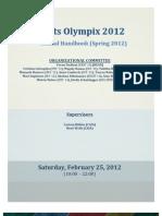 Arts Olympix 2012 Official Handbook
