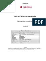 RBS2202 TRU Installation 161101