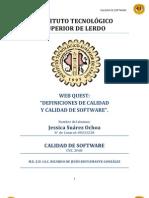 CALIDAD DE SOFTWARE WEB QUEST