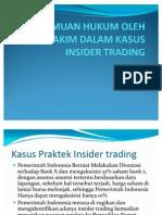 Penemuan Hukum Oleh Hakim Dalam Kasus Insider Trading