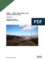 RADAR Propuesta Bolivia - Municipio La Paz 2011