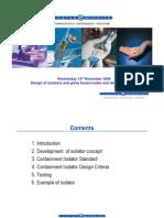 Design of Containemt Isolators