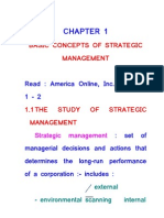 Basic Concepts of Strategic Management